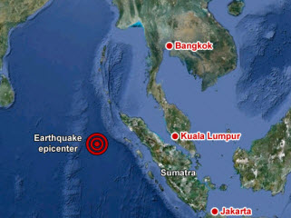Powerful quakes off Indonesia create panic around Indian Ocean